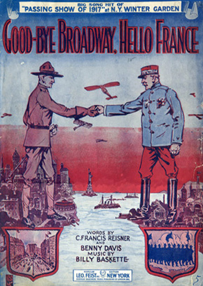 "Sheet music for ""Goodbye Broadway, Hello France"""