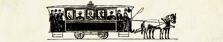 A horse-drawn trolley