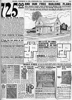 A sears catalog house for Catalog houses