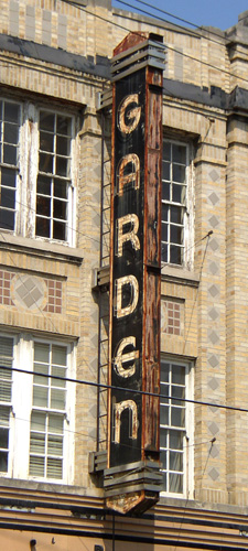 Garden Theater sign